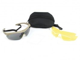 afbc8d9d7 Ochranné okuliare Crosshair 3LS TAN s balistickou odolnosťou - číre, tmavé,  žlté [ESS ...